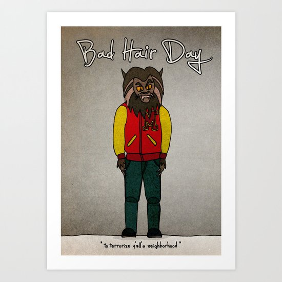 bad hair day no:5 / Thriller Art Print