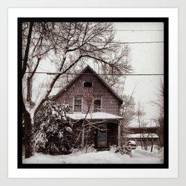 Snowy House Art Print
