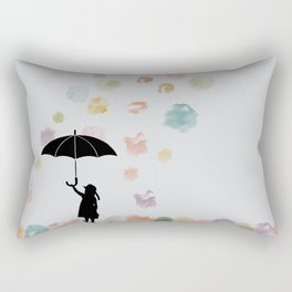 Colorful snow in Winter Rectangular Pillow