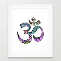 ohm Framed Art Prints featuring Ohm by Ilse S
