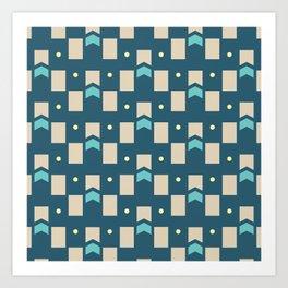 Art Deco Geometric Pattern 274 Art Print