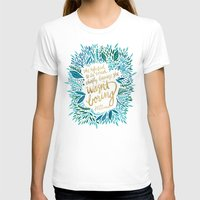 fitzgerald T-shirts featuring Zelda Fitzgerald – Blue on Black by Cat Coquillette