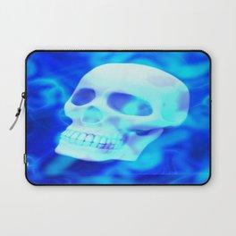 Blue Vapor Skull 💀 Laptop Sleeve