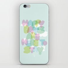 Happy Days Are Here To Stay (pale) iPhone & iPod Skin