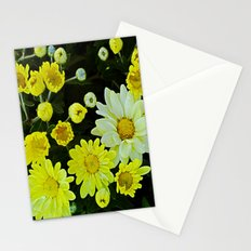 White mixed with Yellow Stationery Cards