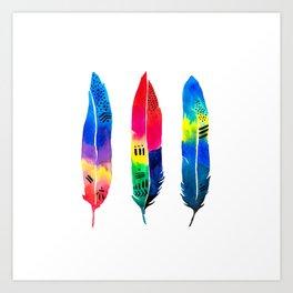 Tropical Quills Art Print