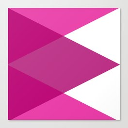 Pink Purple and White Abstract Triangles Canvas Print