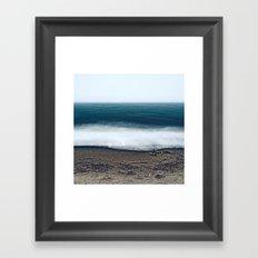 Ocean Waves - Deep Blue Sea in Oregon Framed Art Print