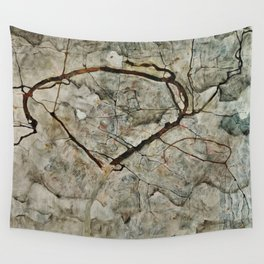 Egon Schiele - Autumn Tree In Stirred Air (Winter Tree) Wall Tapestry