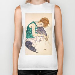 "Egon Schiele ""Seated Woman with Legs Drawn Up"" Biker Tank"
