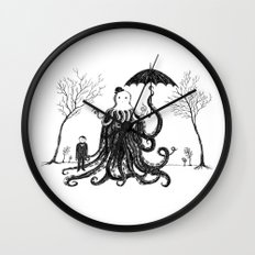 Young Master Lovecraft Finds A Friend Wall Clock