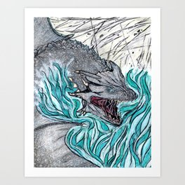 Furious Dragon Art Print