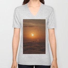 Three Sun SunSet Unisex V-Neck