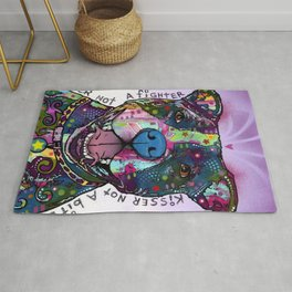 Colourful Pit Bulls, pit bull gift Rug
