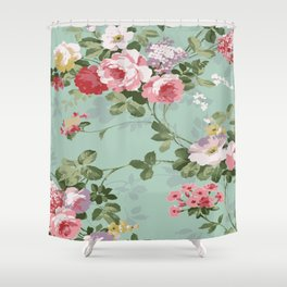 MRSF Floral Shower Curtain