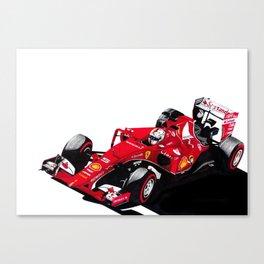 Resurgent in red Canvas Print