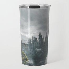 Athabasca Falls Alberta Travel Mug