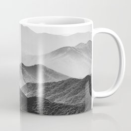 Glimpse - Black and White Mountains Landscape Nature Photography Coffee Mug