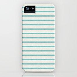 DHURBAN STRIPE AQUA iPhone Case