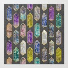 Crystal Gemstones Canvas Print