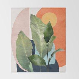 Nature Geometry VII Throw Blanket
