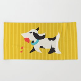 Zombie Dog Harriet Beach Towel