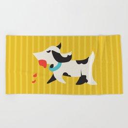 Zombie Dog Harriet Beach Towel