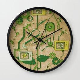 Flower Machine Wall Clock