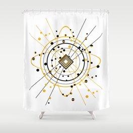 Complex Atom Shower Curtain