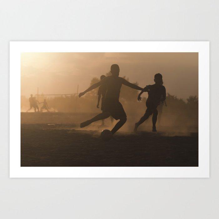 Mekong Football Art Print