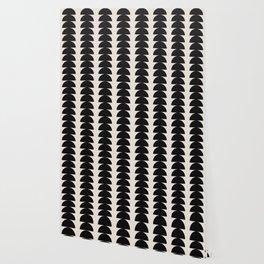 Maude Pattern - Black Wallpaper