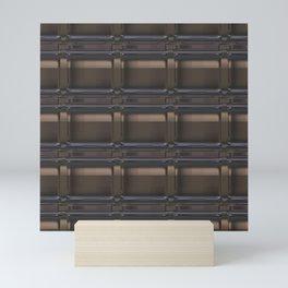 Brown tiles Mini Art Print