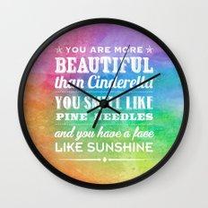 Sunshine Face Wall Clock
