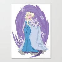 elsa Canvas Prints featuring Elsa by LarissaKathryn