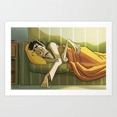 Sleepy Vampire Art Print