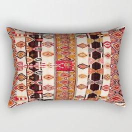 Beni Yacoub South Morocco North African Pile Rug Print Rectangular Pillow