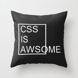 CSS is Awsome - Dark Throw Pillow