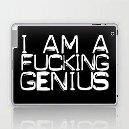 I AM A FUCKING GENIUS Laptop & iPad Skin