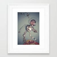 spaceman Framed Art Prints featuring Spaceman by Cameramask