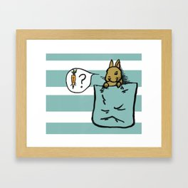 Pocket Bunny Framed Art Print