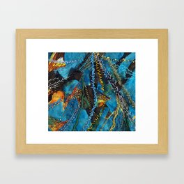 Traces of thought Framed Art Print