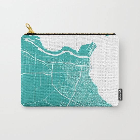 Corpus Christi map turquoise Carry-All Pouch