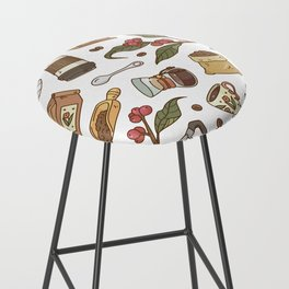 Coffee Break Pattern  Bar Stool