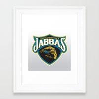 nfl Framed Art Prints featuring Jacksonville Jabbas - NFL by Steven Klock