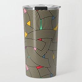 Modern Scandinavian Multi Colour Color Curve Graphic Travel Mug