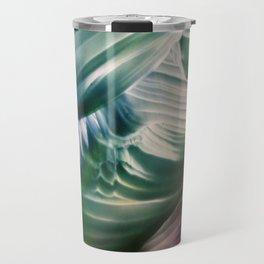 Green, Teal, Blue Abstract Travel Mug