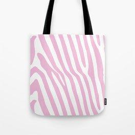 Baby Pink Zebra Stripes Tote Bag