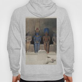 Sanctuary of the Temple of Aboo Simbel Nubia  by David Roberts (1796-1864) Hoody