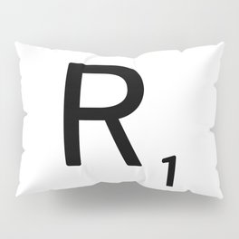 Letter R - Custom Scrabble Letter Tile Art - Scrabble R Initial Pillow Sham