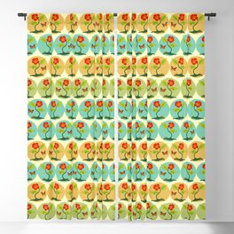 Flowers and bubbles pattern Blackout Curtain